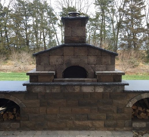 Outdoor Stone Fireplace
